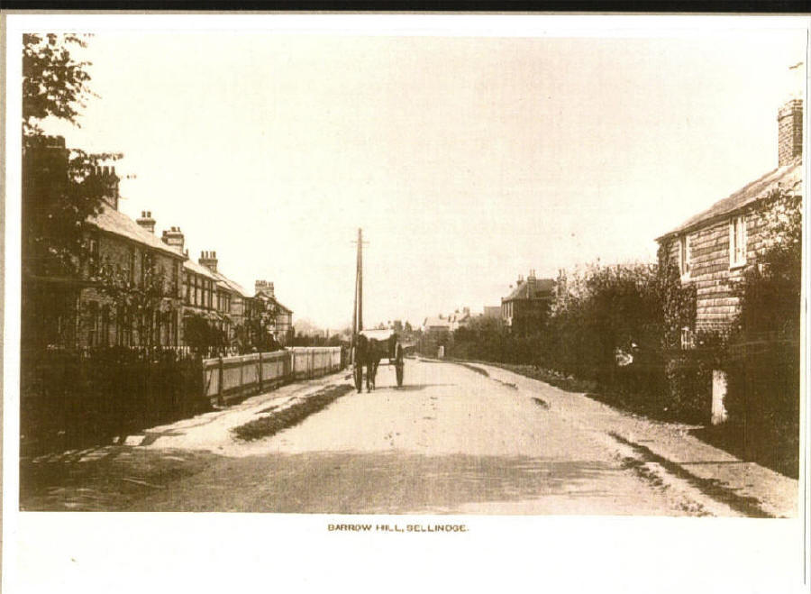 barrow hill looking towards the railway bridge in the 1900's