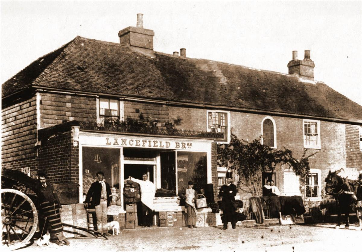 shops on chestnuts main road in the 1900's